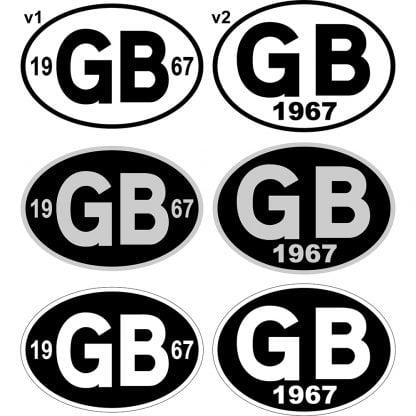 GB Year car Sticker