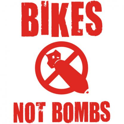 Bikes Not Bombs sticker