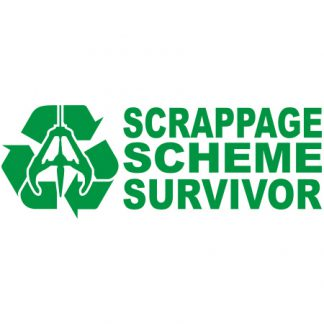 Scrapage scheme survivor sticker