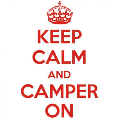 Keep calm and camper on sticker