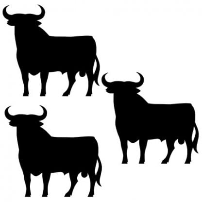 Bull sticker decal
