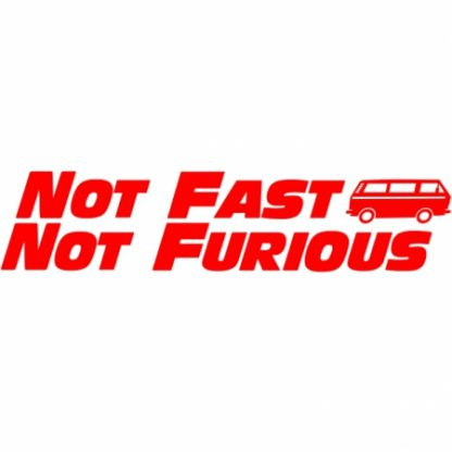 Fast and furious VW T25 sticker