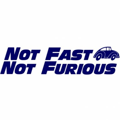 Fast and furious beetle sticker