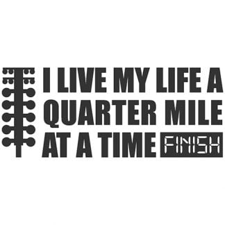 Quarter mile sticker