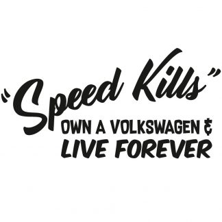 Speed kills sticker