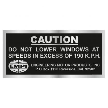 Caution do not lower windows sticker