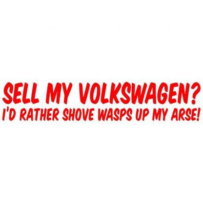 Sell my Volkswagen sticker