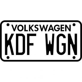 Volkswagen KDF WGN sticker