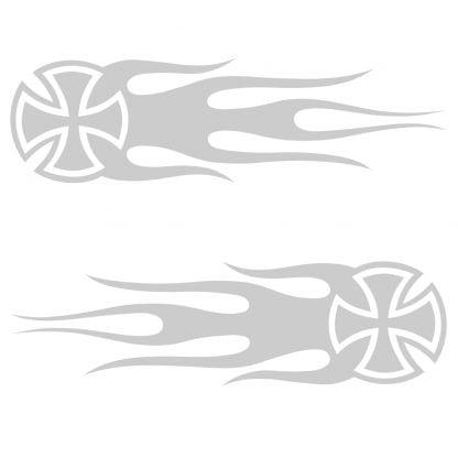 Maltese flames sticker
