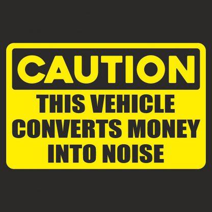 Converts money sticker