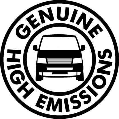 High Emissions sticker
