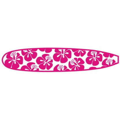 Flowery surfboard sticker