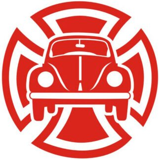 Maltese cross beetle sticker