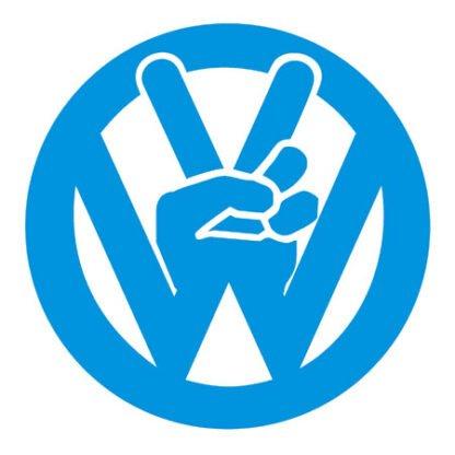 Peace VW symbol sticker