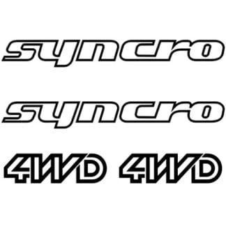 VW T25 T3 Syncro 4wd van decal
