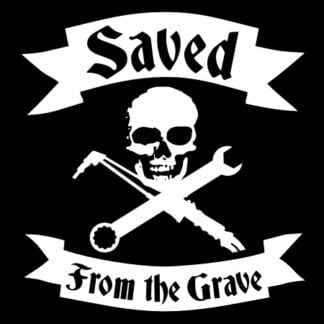 Saved From The Grave sticker