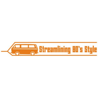 Streamlining 80's style sticker