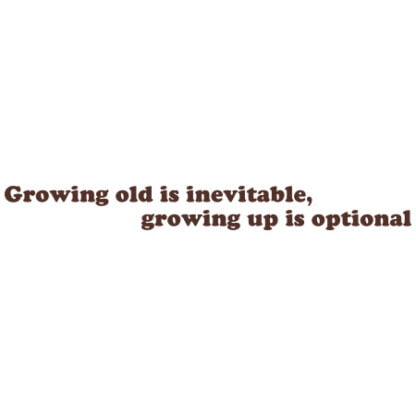 Growing old is inevitable sticker