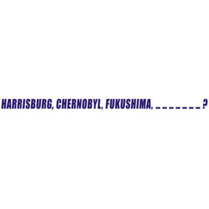 Harrisburg Chernobyl Fukushima sticker