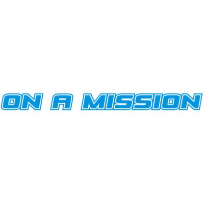 On a mission car sticker