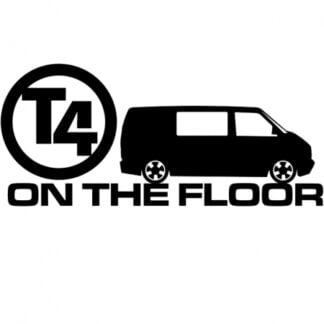 T4 on the floor van sticker
