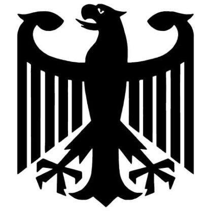 Heraldic eagle symbol sticker