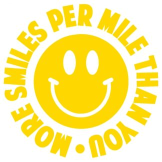 More smiles per mile sticker