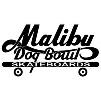 Malibu dogbowl skateboard sticker