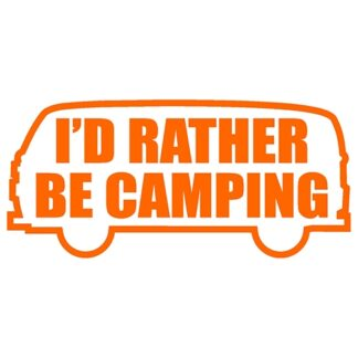 I'd rather be camping bay window sticker