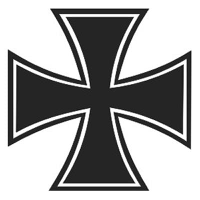 German iron cross sticker