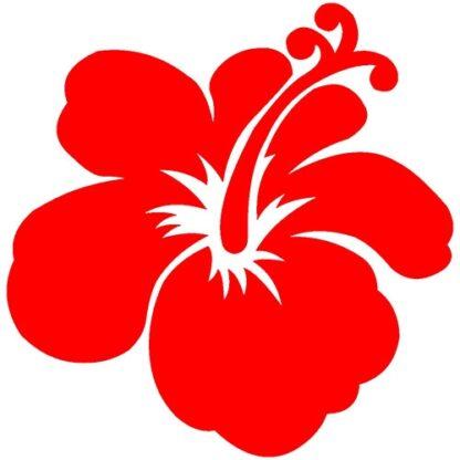 Hibiscus flower sticker