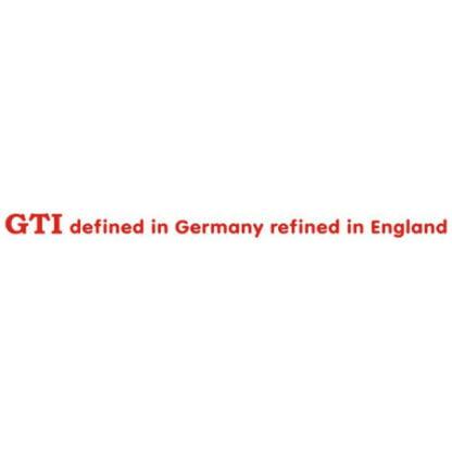 GTI Defined in Germany sticker