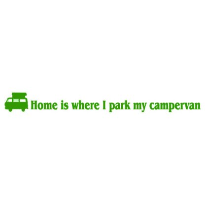 Home is where I park my campervan sticker