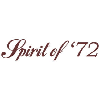 Spirit of 72 sticker