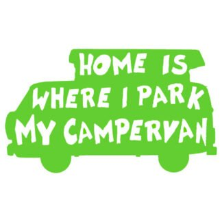 Home is where I park it sticker