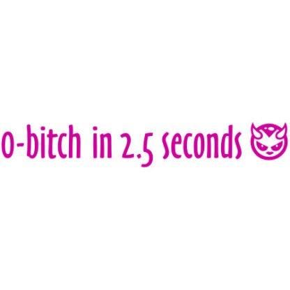 0-bitch in 2.5 seconds sticker