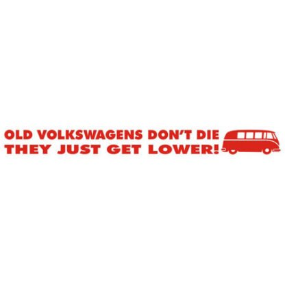 Old Volkswagens don't die they just get lower sticker