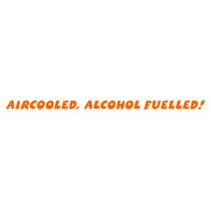 Aircooled alcohol fuelled sticker