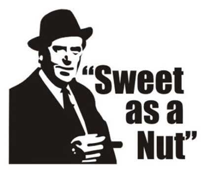 Sweet as a nut sticker