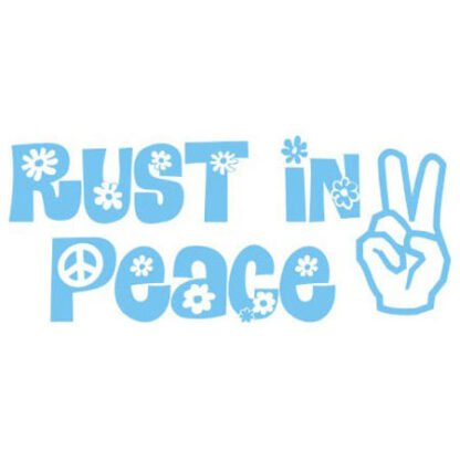 Rust in peace sticker
