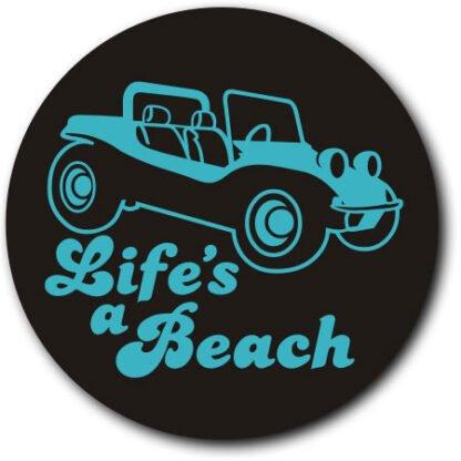 Life's a beach tax disc holder